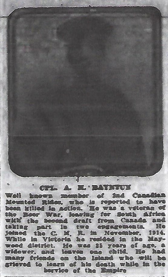 Newspaper clipping– From the Daily Colonist of April 7, 1916. Image taken from web address of https://archive.org/stream/dailycolonist58y101uvic#mode/1up