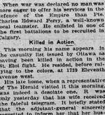 Coupure de presse – Calgary Daily Herald 26 avril 1916