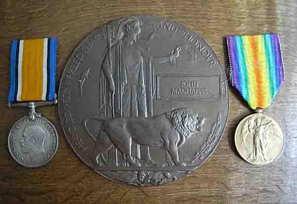 Medals– John Machaffie,s medals