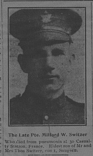 Newspaper Clipping– From the April 4, 1917 edition of the Paisley Advocate