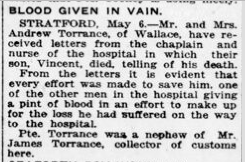 Newspaper clipping– From the London Free Press May 1918. Submitted for the project Operation Picture Me