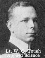 Photo of William Tough– From: The Varsity Magazine Supplement published by The Students Administrative Council, University of Toronto 1916.  