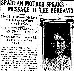 Newspaper Clipping– From the Toronto Star for 1 May 1915.