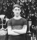Photo of Arthur Edwin Wood– A E Wood with some trophies for running